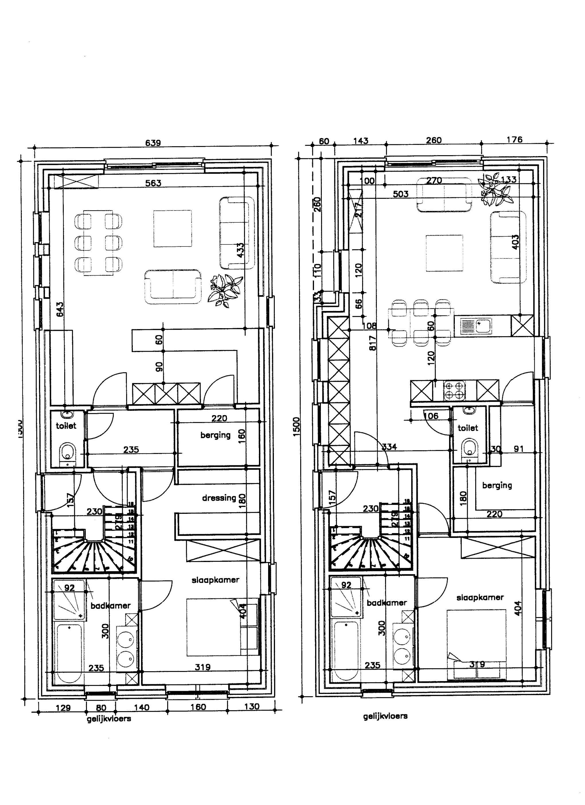 De eerste schetsen doehetbeterzelf for Huizen tekenen