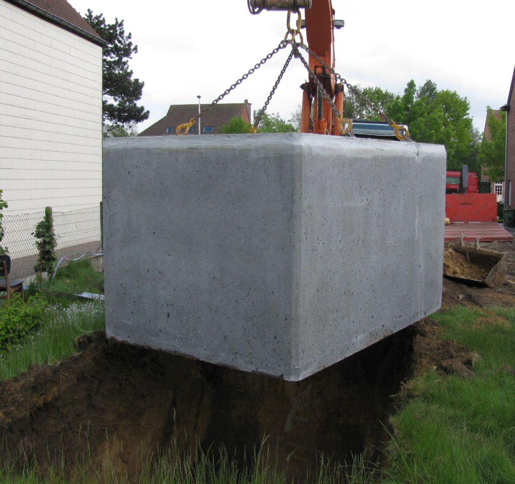 Regenwaterput beton rechthoekig