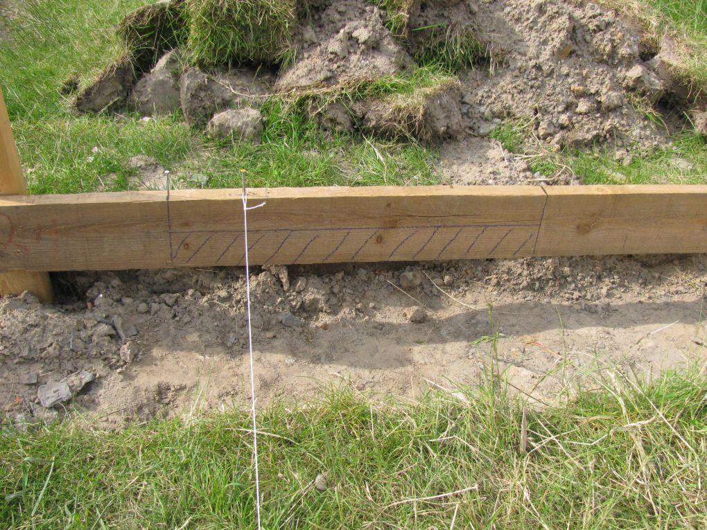 Uitzetten van de bouwlijn doehetbeterzelf - Tuinmeubilair op een helling ...