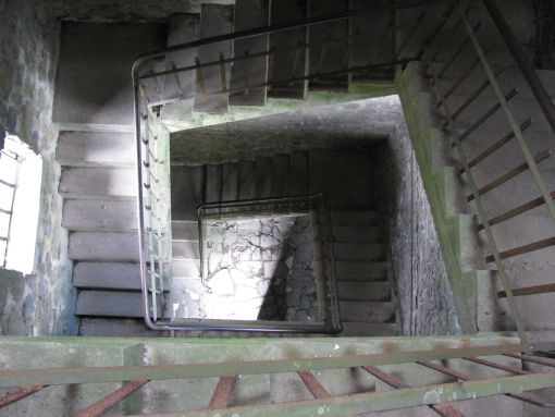 Veel trappekes van oude torens gedaan.