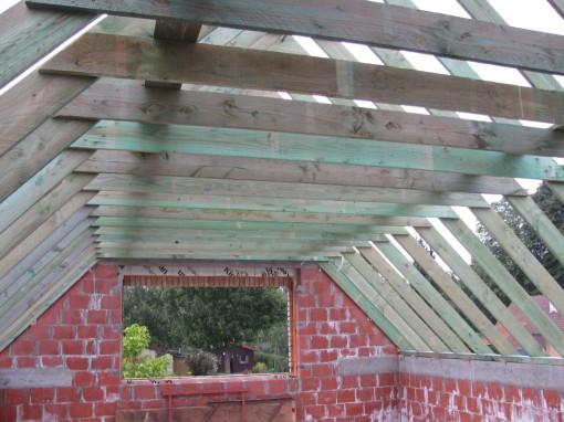 De ruimtes onder het dak krijgen al duidelijker vorm.