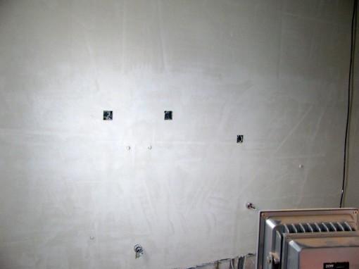 Dezelfde muur na de pleisterwerken.