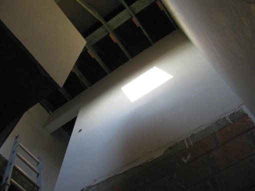 Een ander zicht van de bovenkant van de traphal.