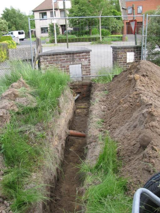 Sleufke gegraven